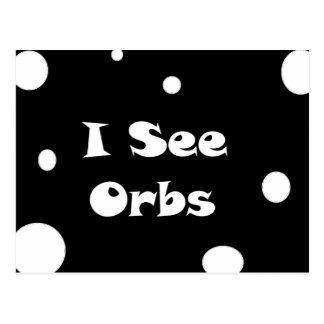 I See Orbs-postcard Postcard