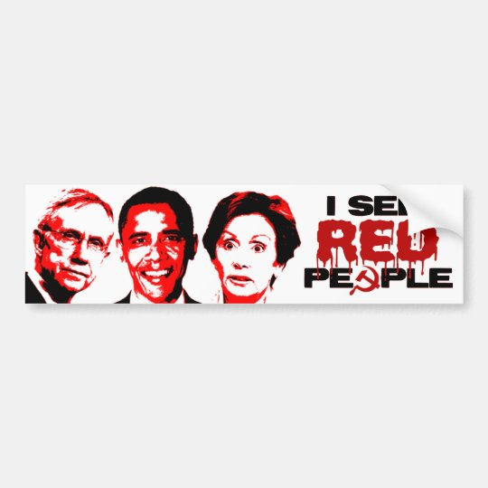 I See Red People Bumper Sticker