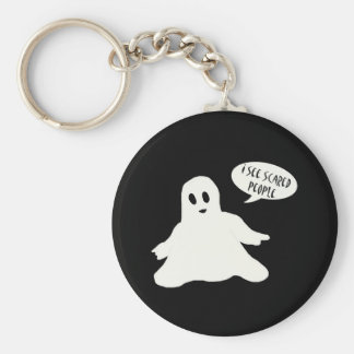 I see scared people Keychain