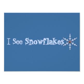 I See Snowflakes Custom Invite