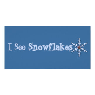 I See Snowflakes Picture Card