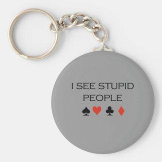I see stupid people T-shirt Keychains