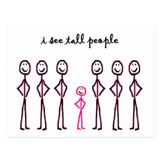 I See Tall People Postcard