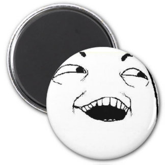 I See What You Did Comic Face 2 Inch Round Magnet