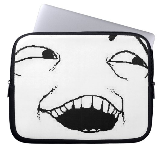 I See What You Did Comic Face Computer Sleeve
