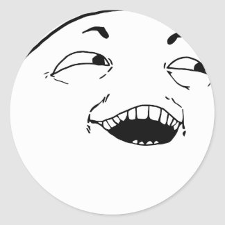 I see what you did there - meme classic round sticker