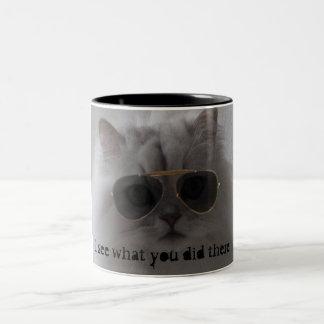 I see what you did there. Two-Tone coffee mug