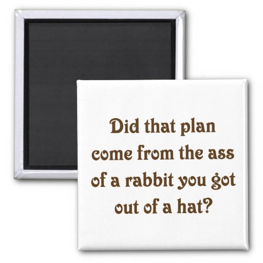 I see where your magic plans come from (2) fridge magnet
