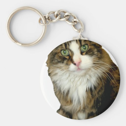 i see you basic round button keychain
