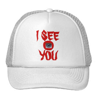 I SEE YOU -  CAP - WITH  2 EYES TRUCKER HAT