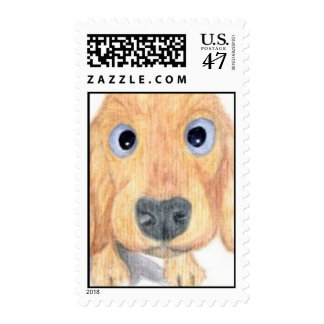 I See You Dog Postage Stamp