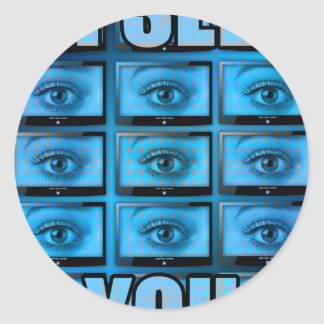 I See You Eye Ball Television Classic Round Sticker