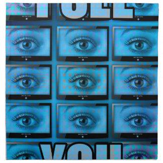 I See You Eye Ball Television Cloth Napkin