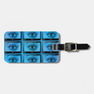 I See You Eye Ball Television Luggage Tag