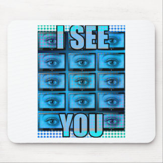 I See You Eye Ball Television Mouse Pad