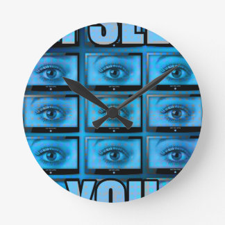 I See You Eye Ball Television Round Clock