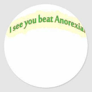 i see you yellow copy classic round sticker