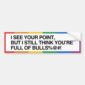 I SEE YOUR POINT - .png Car Bumper Sticker