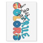 I see your true colors Autism Awareness Tattoo Temporary Tattoos