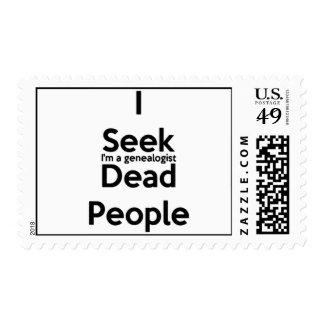 I Seek Dead People Postage Stamp