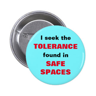 I seek the TOLERANCE found in SAFE SPACES Pinback Button