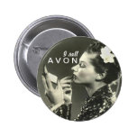 I Sell AVON vintage looking button