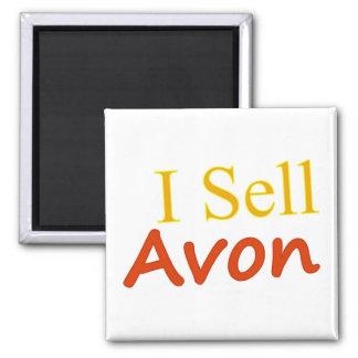 I-Sell-Avon-White Background 2 Inch Square Magnet