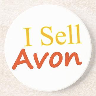 I Sell Avon White Background Coaster