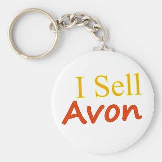 I-Sell-Avon-White Background Keychain
