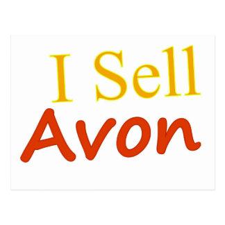 I Sell Avon White Background Postcard