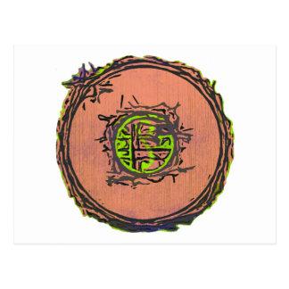 I sello de Ching Tarjeta Postal