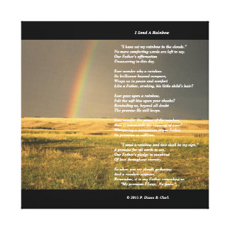 """I Send A Rainbow"" Canvas Print"