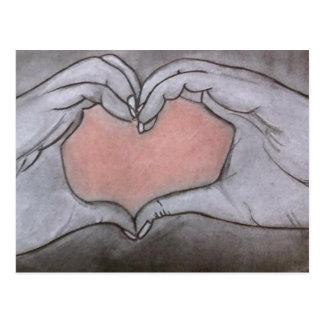 I send my heart... postcard