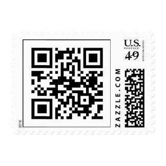 """""""I send this letter with LOVE"""" (QR Message Stamp) Postage"""