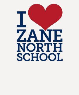 I señoras del norte de Zane del corazón 3/4 Camisetas