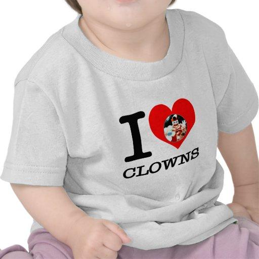 I separadores del amor del corazón, payasos, usted camisetas