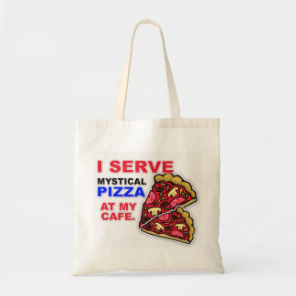 """I Serve Pizza at My Cafe"" Tote Bag"