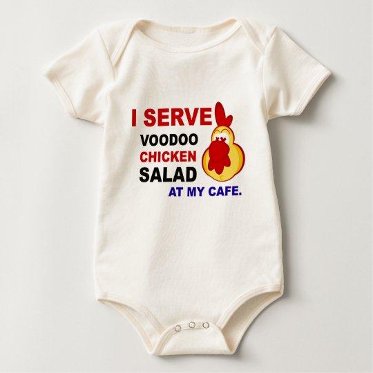 """""""I Serve Voodoo Chicken Salad at My Cafe"""" Infant Baby Bodysuit"""