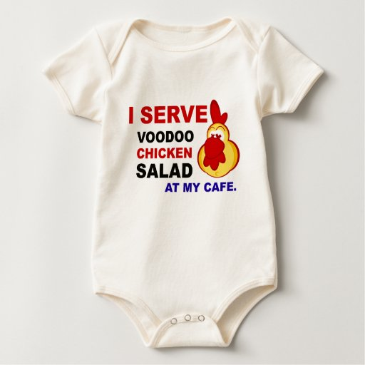"""""""I Serve Voodoo Chicken Salad at My Cafe"""" Infant Baby Creeper"""