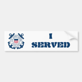 I SERVED- Coast Guard Auxiliary Bumper Sticker