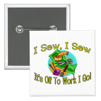 I Sew I Sew Pinback Button