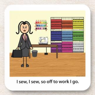 I Sew I Sew So Off To Work I Go Coasters