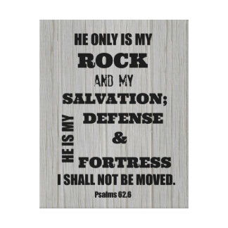 I shall not be Moved Bible Verse Canvas Print