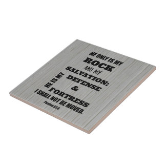 I shall not be Moved Bible Verse Ceramic Tile