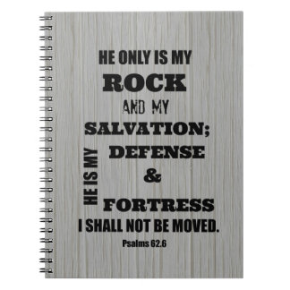 I shall not be Moved Bible Verse Spiral Notebooks