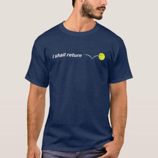 I Shall Return Outdoor Pickleball Dark Loose Fit T-Shirt