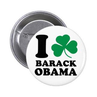 I Shamrock Barack Obama Button