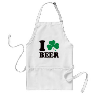 I Shamrock Beer Adult Apron
