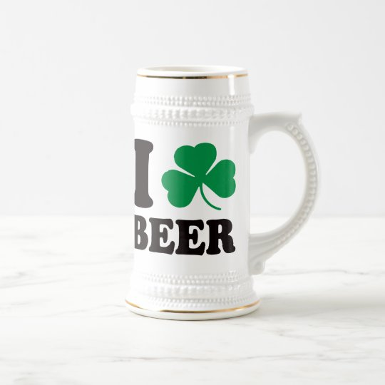 I Shamrock Beer Beer Stein