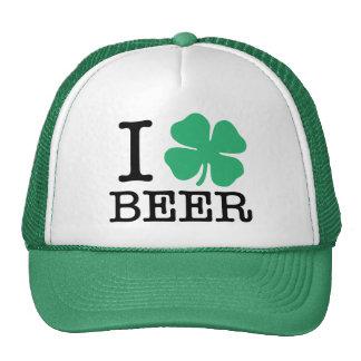 I Shamrock Beer Trucker Hats